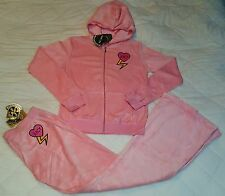 Juicy Couture velour fashion tracksuit set with top and pants size XL