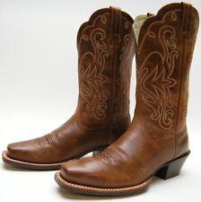 Ariat 15845 Legend Square Toe BRN LEATHER Cowboy Western Russet Rebel 6.5~1/2 B