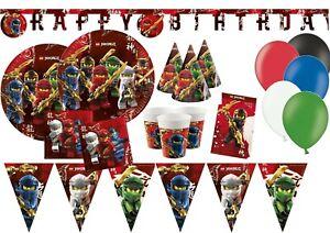 Lego Ninjago Tableware Party Decorations Birthday Supplies