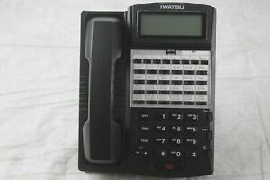 Lot of 10 Iwatsu IX-12KTD-3(BLK) 24 Button Display Phones W/ Handsets & Stands