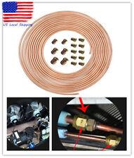 "25 Ft. Roll Coil of 3/16"" Od Copper Nickel Brake Line Tubing Kit w/ 16 Fittings"