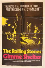 GIMME SHELTER ROLLING STONES MOVIE POSTER ONE SHEET 1970