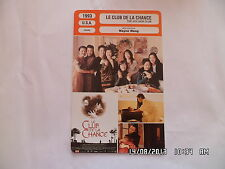 CARTE FICHE CINEMA 1993 LE CLUB DE LA CHANCE Kieu Chinh Tsai Chin France Nuyen