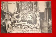 GUERRE 1914 INTERIEUR EGLISE DE BARCY APRES PASSAGE DES ALLEMANDS SEINE ET MARNE