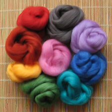 1kg Merino Wool Tops 64's Dyed Fibres - Mid - Felt Making and Spinning