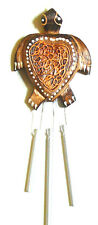 CARILLON TORTUE BOIS METAL ARTISANAT WOODEN BELL WIND CHIME TURTLE VENT