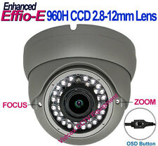 1/3 SONY Effio-E 960H Vandalproof OUTDOOR Night Vision CCTV SECURITY DOME CAMERA
