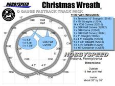 LIONEL FASTRACK CHRISTMAS TREE WREATH LAYOUT 6'x6' pack Train track Design NEW