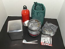 COLEMAN PEAK 1 MULTI-FUEL STOVE KIT BACKPACKING CAMPING HIKING W/ FUEL BOTTLE ++