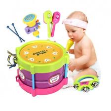 5pcs rotolo bambino tamburo strumenti musicali bambini giocattolo bambini