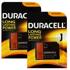 2 x Duracell Alkaline J 6V batteries 4LR61 7K67 539 KJ 1412AP Camera