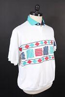 Vintage 80s 90s ESSENTIALS Striped Golf Polo Shirt DS NWOTS Mens Size Large
