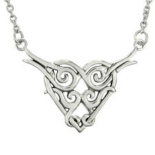 Sterling Silver Celtic Love Knot Necklace Pendant Irish Heart Knotwork Jewelry
