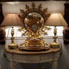 Paire De Lampes Bougeoirs En Bronze Doré, Cariatides Et Béliers, Style Louis XVI