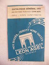 Spartito Catalogo Generale Léon Agel 1955