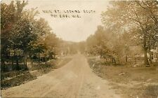 Wisconsin, WI, Poy Sippi, Main ST Looking South 1908 Real Photo Postcard