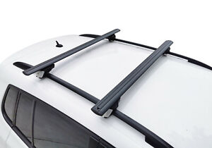 Alloy Roof Rack Cross Bar for Skoda Octavia 2013-19 wagon 120cm Lockable Black