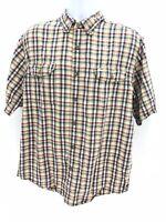 Carhartt Short Sleeve Casual 100% Cotton Button Up Shirt Men's Large Regular