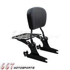 Detachable Backrest Sissy Bar Luggage Rack For Harley Softail Standard FXST 2006