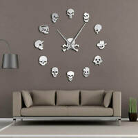 Different Skull Heads DIY Horror Wall Art Giant Wall Clock