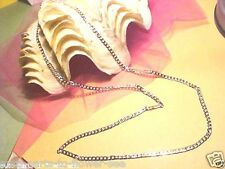 "4Mm Sideways Modern Style 30"" Necklace Y-97 Usa Shipped Item 925 Sterling Silver"