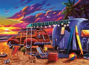 "Buffalo Games Beach Camp 1000pcs Jigsaw Puzzle 26.75"" x 19.75"" Aug.13,2020"