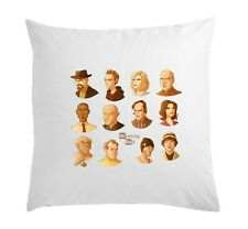 Breaking Bad Characters Artwork White Pillow Case Cushion Cover 40 cm