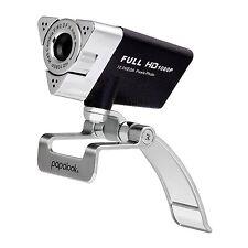 Webcam 1080P Full HD Web Cam + Microphone PC Camera Skype - Windows XP, 7  8  10