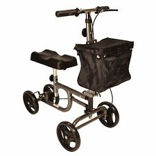 Steerable Knee walker scooter with brakes and height adjustable handle