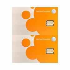New listing (2 Pack) Authentic At&T Att Sim Card Nano Gsm 4G/3G/2G Lte Prepaid/Postpaid