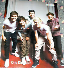 ONE DIRECTION 1D BEAUTIFUL GLOSSY RUSSIAN FOLD OUT POSTER 2012 IN MINT CONDITION