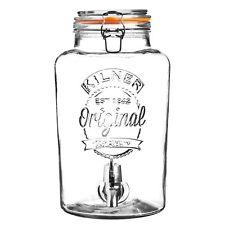 Kilner Large 8 Litre Cocktail Juice Drinks Dispenser Clip Top Jug Glass Jar