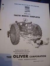 VINTAGE OLIVER CORP IRON AGE OPERATORS MANUAL- TRANS PLANTER-1952