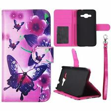 For Sk Samsung Core Prime S820L Wallet Butterfly Pi Cover Split Leather Case Uni