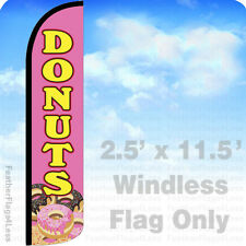 Donuts - Windless Swooper Flag Feather Banner Sign 2.5x11.5' - pz