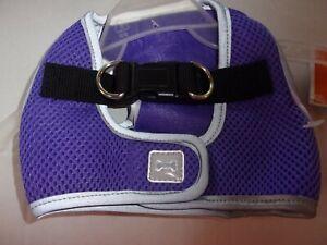 PURPLE Reflective Harness Vest Dog XS New Pet No Choke free Xsmall step-in
