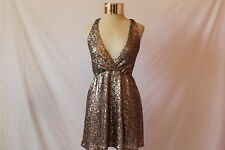 Women's Gold Sequined Dress by Tobi