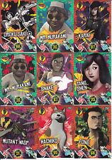 9 Different Teenage Mutant Ninja Turtles Turtle Power Panini cards