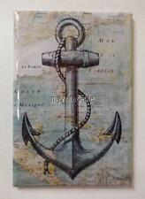 "Vintage Nautical Map with Anchor  2"" x 3"" Fridge MAGNET"