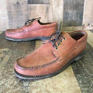 Gokey Company Brown Leather Shoes Mens 10.5 E