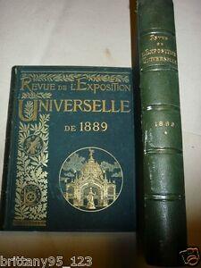 Revue Exposition universelle 1889 2 tomes,nbrses Gravures photos,+800 pages 15KG