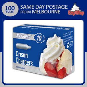 100 CHARGERS DREAMWHIP CREAM BULBS 10 PACK X 10 NITROUS OXIDE WHIPPED