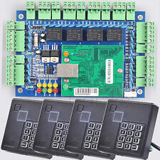 TCP/IP Network Entry Door Access Control Board Web Panel + 4 RFID Reader Keypad