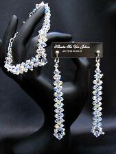 Bracelet and Necklace Wedding Christmas set made of Swarovski crystal jewellery