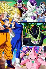 Dragon Ball Z Poster Goku Vegeta Bad Guys 12inches x 18inches Free Shipping