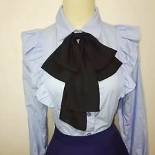 Oversized Tied-up Chiffon Bow Giant Big Black Bow for shirt Cosplay Costume