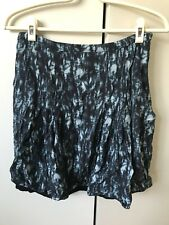 Jigsaw Skirt SiZe 8 Blue Black Floral Prints