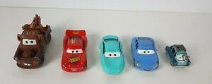 Disney Pixar Mattel Cars Toy Cars x5