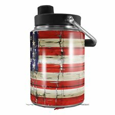 Skin Wrap for Yeti Half Gallon Jug Painted Faded and Cracked USA American Flag