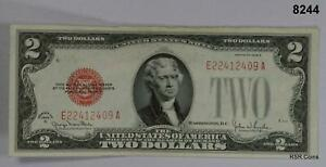 1928 G $2 UNITED STATES RED SEAL VF #8244